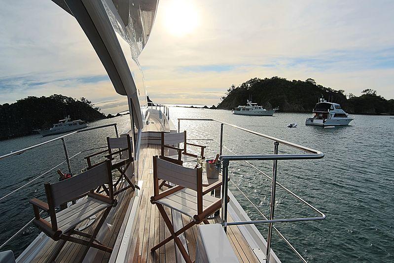 Estel yacht side deck