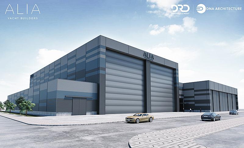 Alia Yachts shipyard rendering