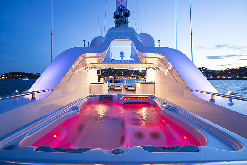 Alaska of George Town yacht jacuzzi