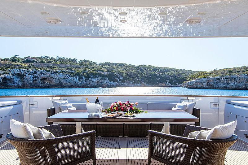 Always Believe yacht aft deck