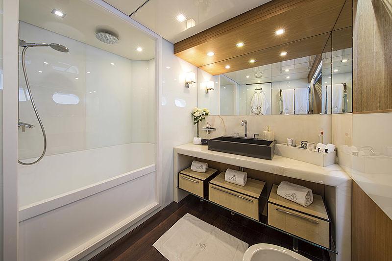 Always Believe yacht bathroom
