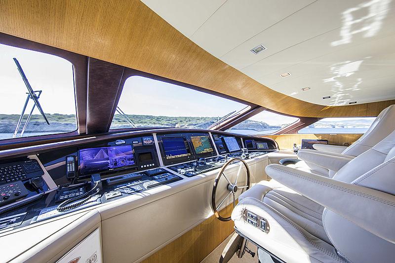 Always Believe yacht wheelhouse