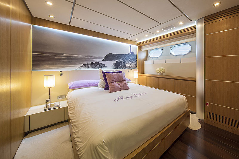 Always Believe yacht stateroom