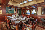 Montrevel yacht dining area