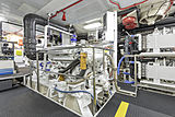 Montrevel yacht engine room