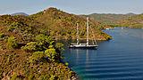 Melek yacht at anchor