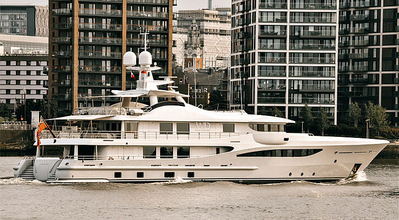 Were dreams yacht by Amels in London