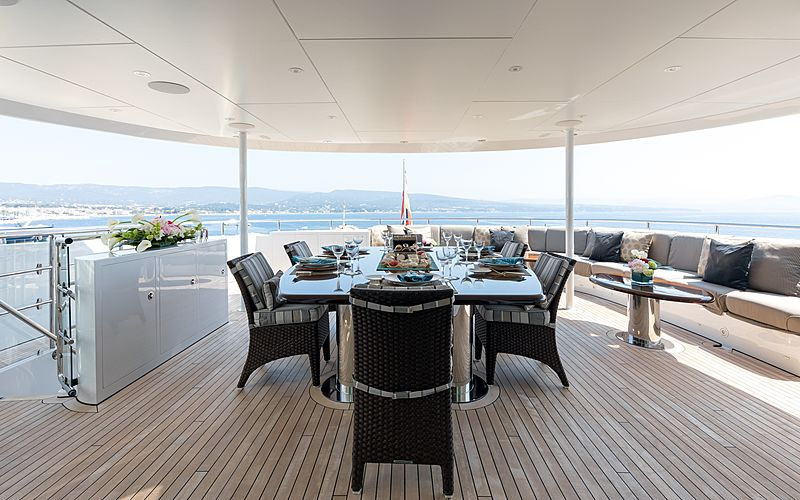 Naseem yacht aft deck