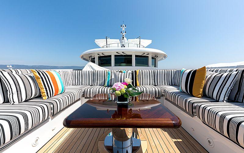Naseem yacht foredeck