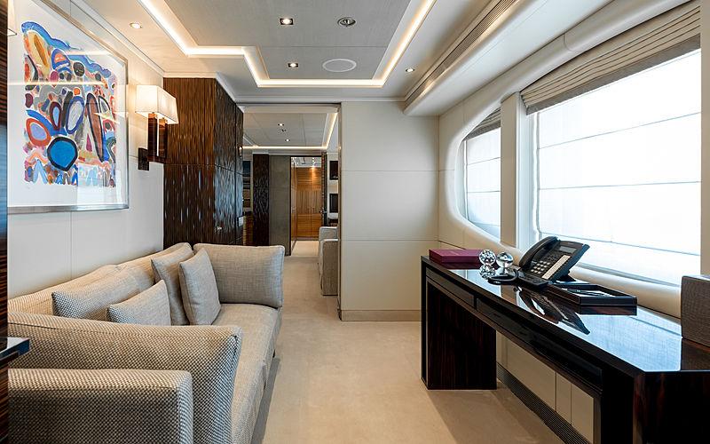 Naseem yacht owner's study