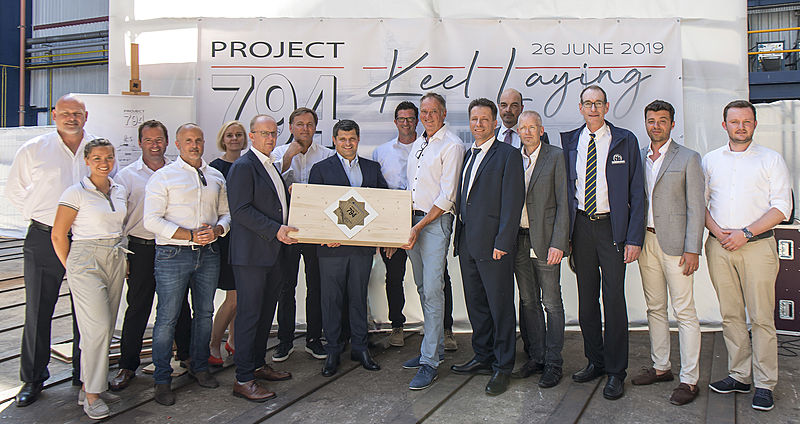 Project 794 keel laying