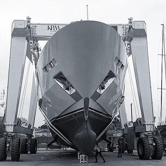 SimSim I yacht at shipyard