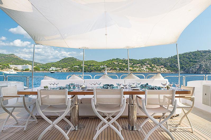 Lisa IV yacht aft deck