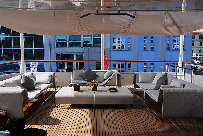 La Pellegrina yacht aft deck