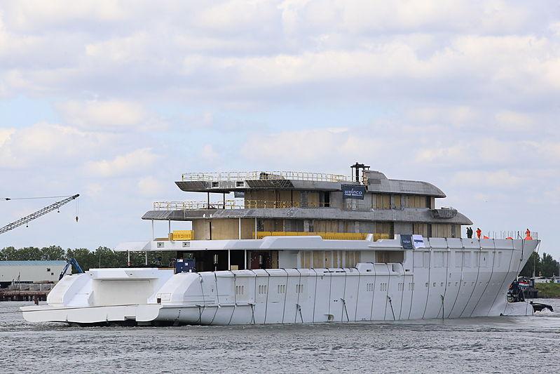 Oceanco Y719 yacht hull launch