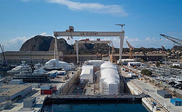 MB92 La Ciotat shipyard