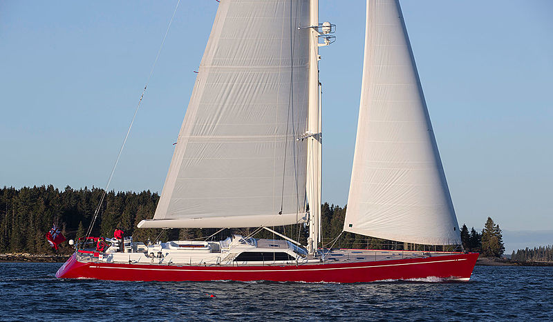 Red Sky yacht sailing