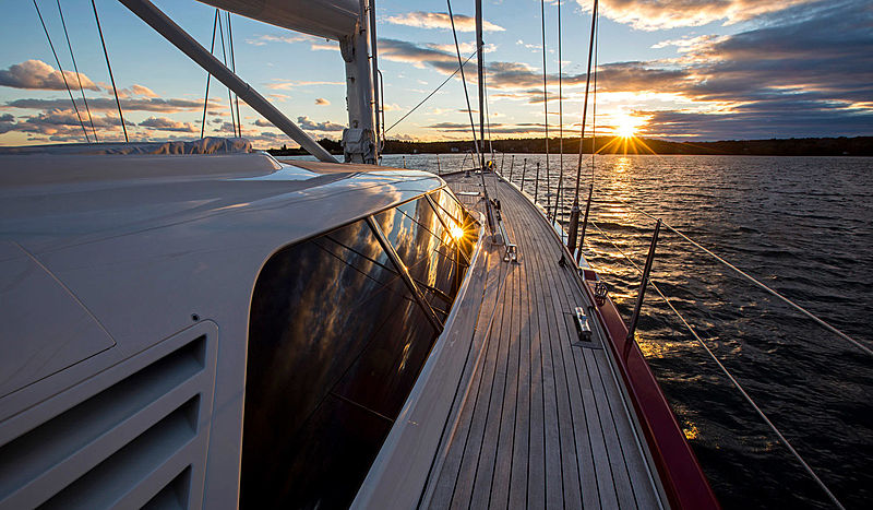 Red Sky yacht deck