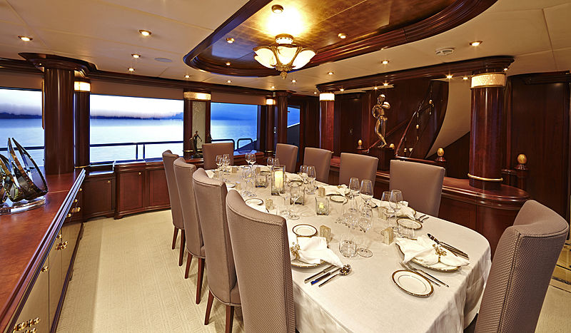 Zoom Zoom Zoom yacht dining
