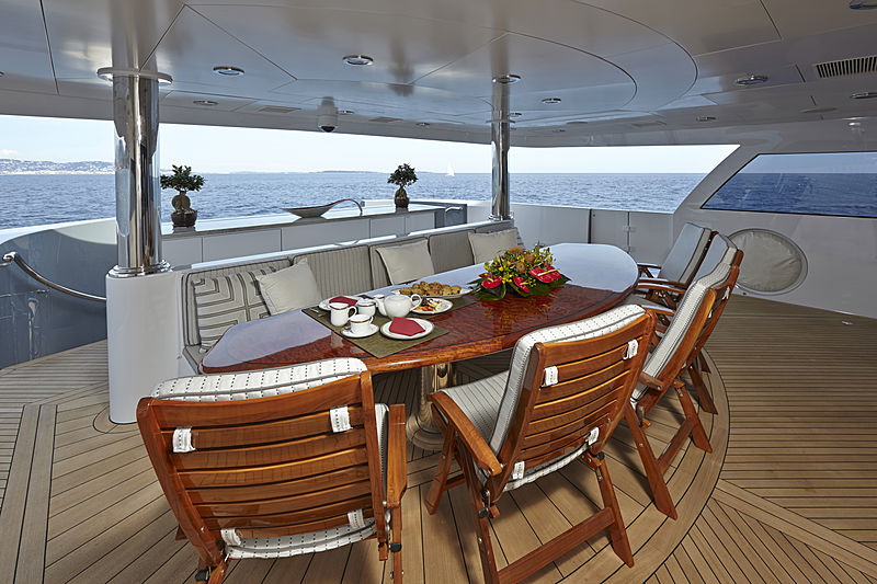 Zoom Zoom Zoom yacht deck