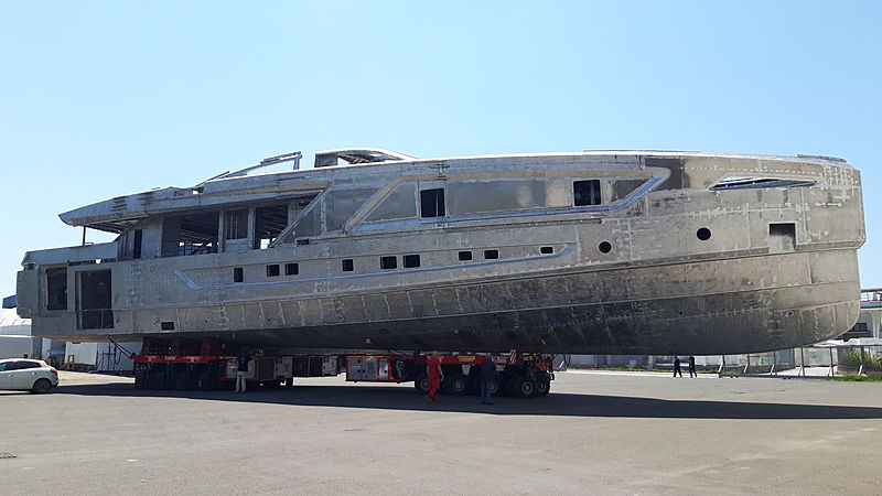 Cerri yacht Project Panam in build in Avanza