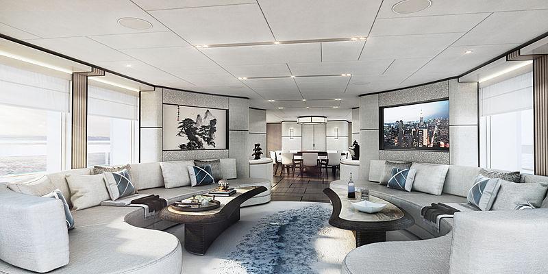 Heesen yacht Project Aquamarine interior design