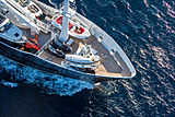 Grand Rusalina yacht foredeck  with toys