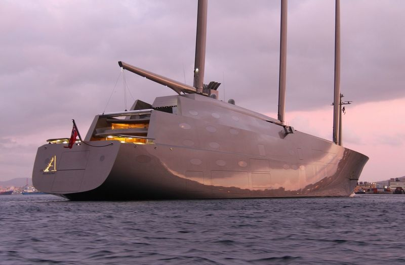 Sailing Yacht A in Gibraltar