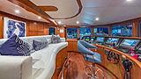 At Last yacht wheelhouse