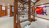 At Last yacht staircase