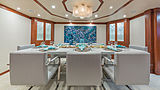 At Last yacht dining