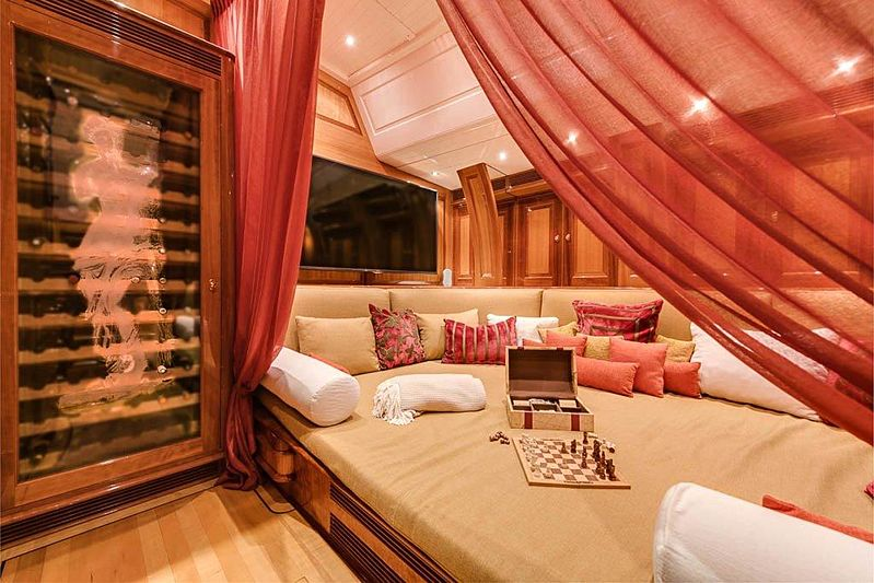 Aphrodite A yacht stateroom