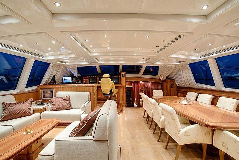 Aphrodite A yacht saloon