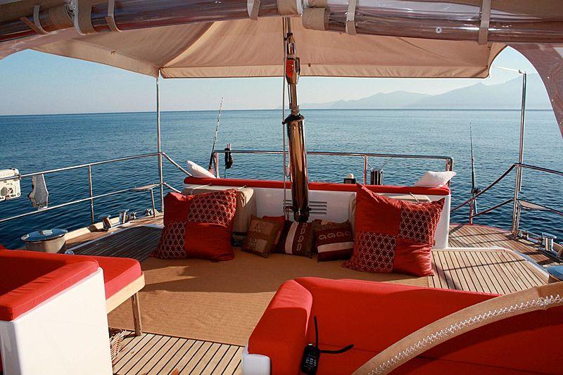 Aphrodite A yacht deck