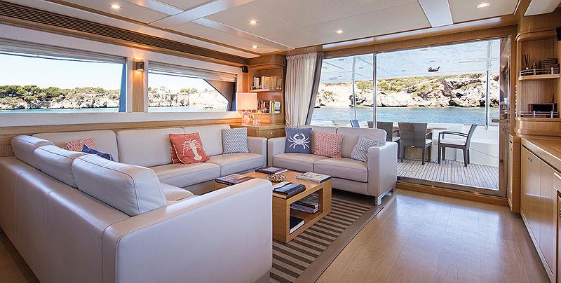 Malvasia II yacht saloon