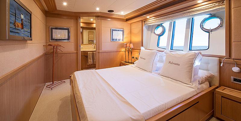 Malvasia II yacht stateroom