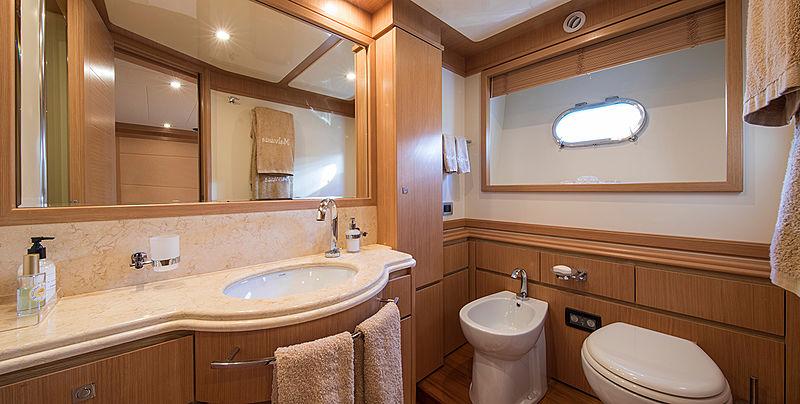 Malvasia II yacht bathroom