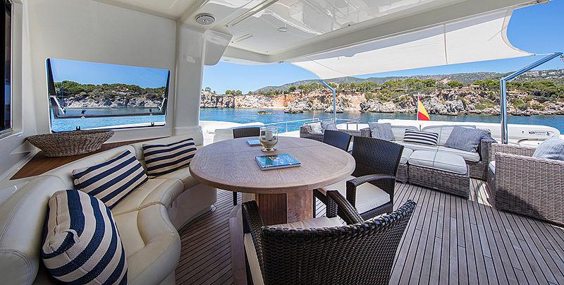 Malvasia II yacht aft deck