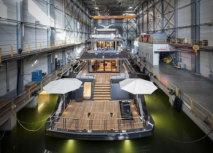 Boreas yacht at Heesen Yachts