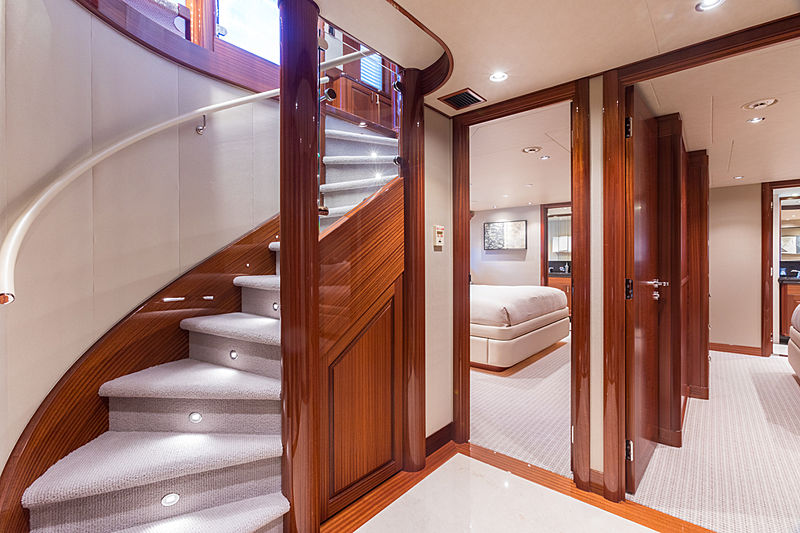 Next Chapter yacht staircase