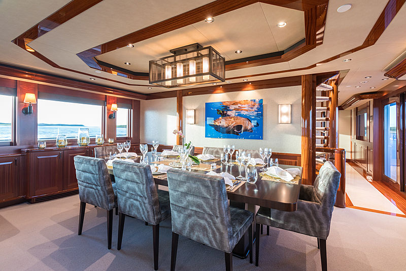 Next Chapter yacht dining