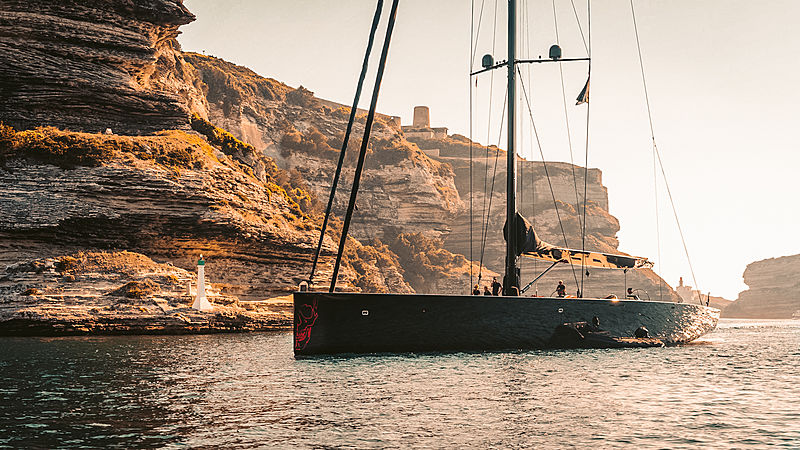 Black Sails yacht by Wally in Bonifacio