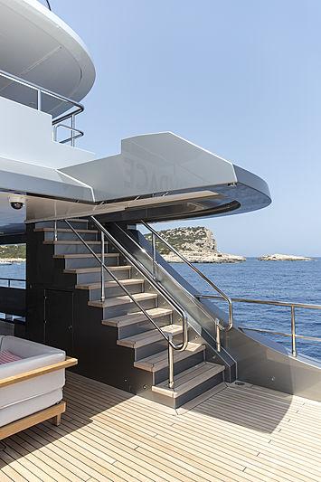 Audace yacht deck