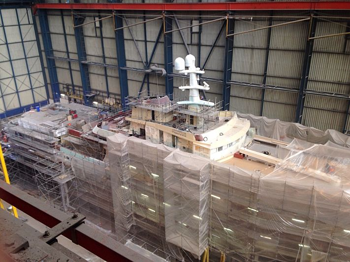 Legend yacht refit at Icon shipyard in Harlingen