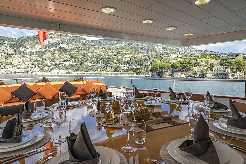 Fiorente yacht aft deck