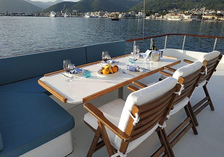White Swan yacht deck