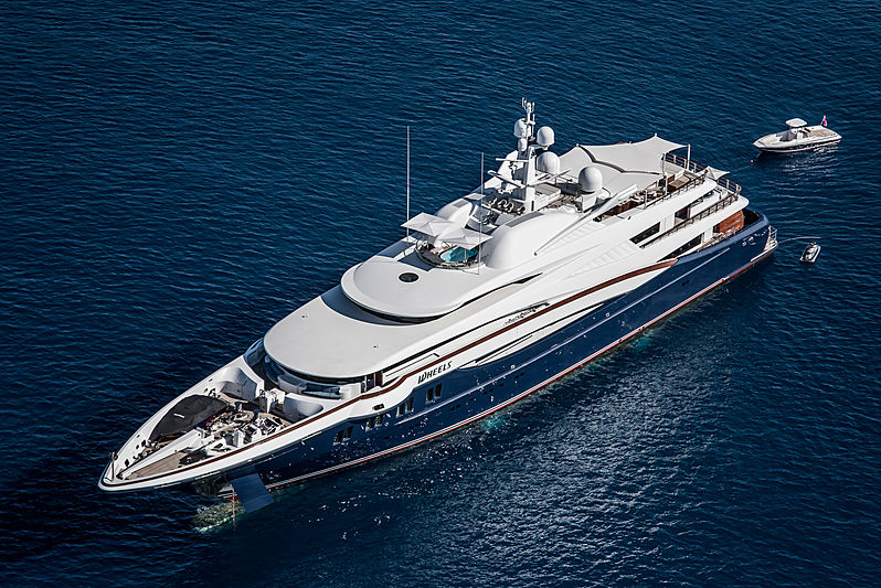 Wheels yacht by Oceanco in Portofino