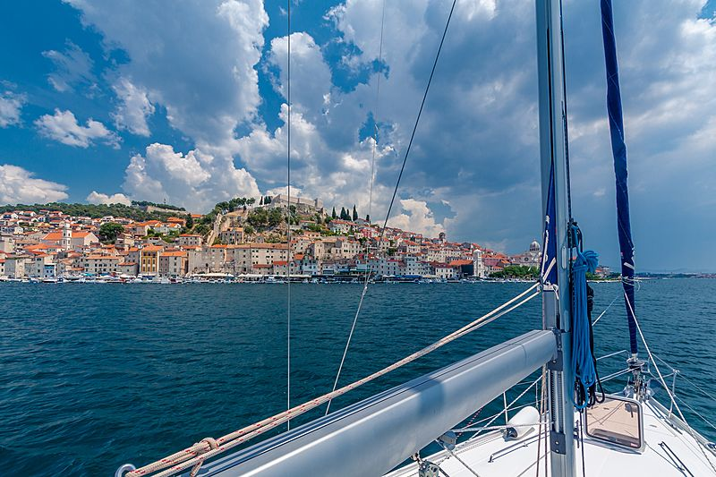 Sailing yacht in Adriatic Sea