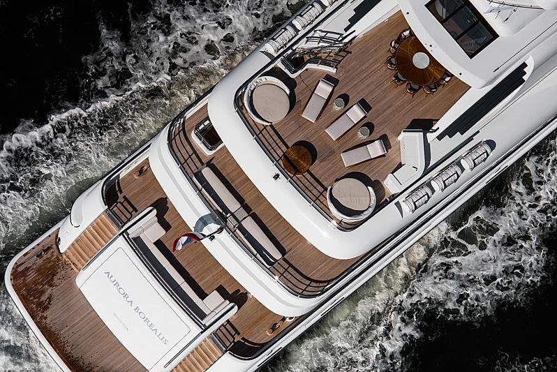 Aurora Borealis yacht deck