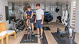Gladiator yacht garage and gym